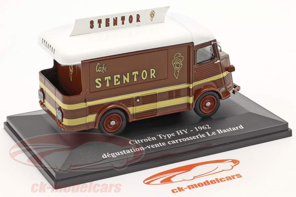 Citroen Type HY Cafe Stentor bouwjaar 1962 bruin / Wit 1:43 Altaya