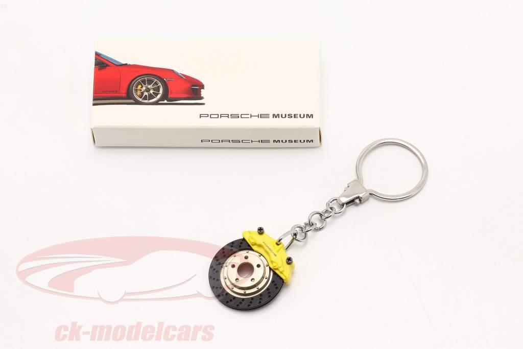 Porsche Nøglering Bremseskive gul AUTOart