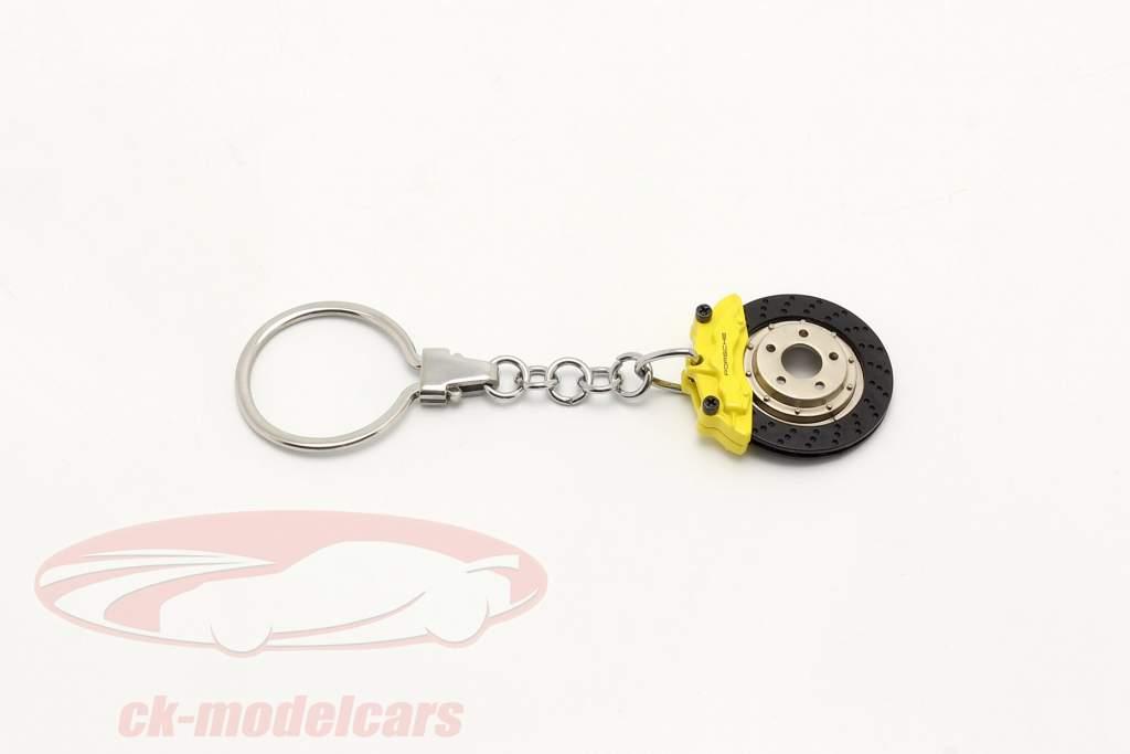 Porsche Key chain Brake disc yellow AUTOart