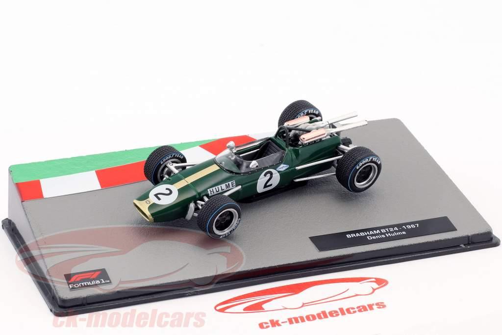 Denis Hulme Brabham BT24 #2 formel 1 Verdensmester 1967 1:43 Altaya