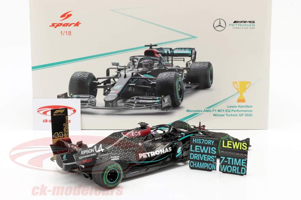 L. Hamilton Mercedes-AMG F1 W11 #44 Wereldkampioen kalkoen GP F1 2020 1:18 Spark