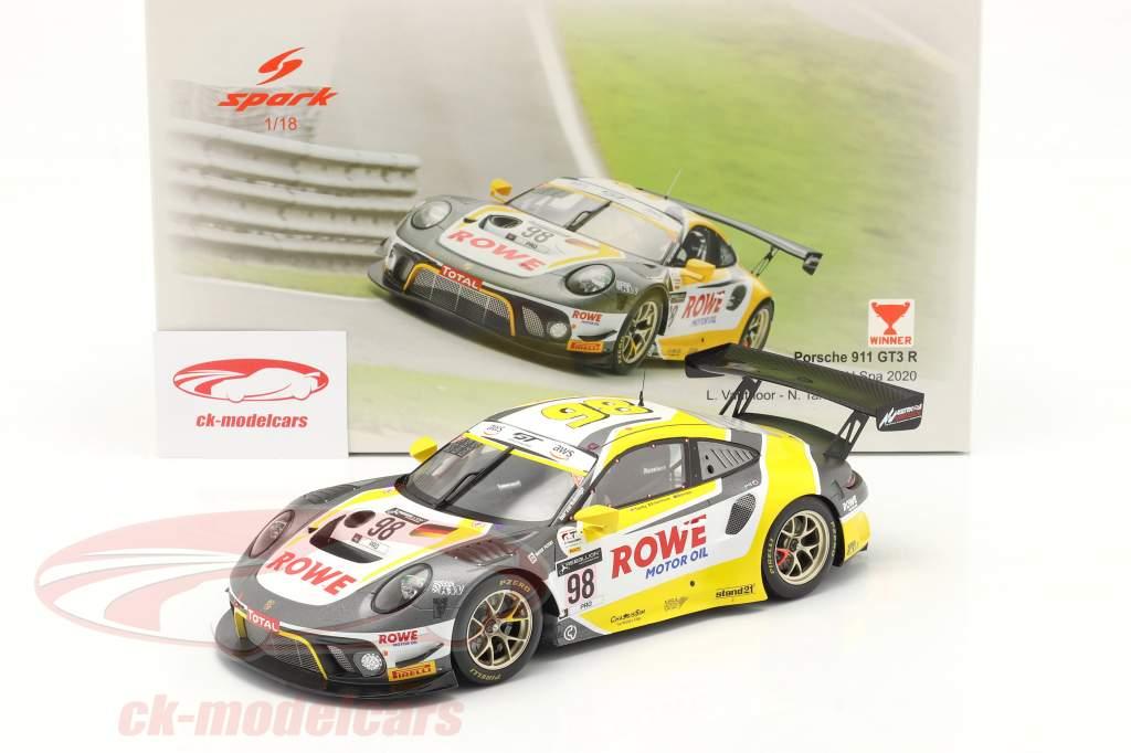 Porsche 911 GT3 R #98 Победитель 24h Spa 2020 Bamber, Tandy, Vanthoor 1:18 Spark