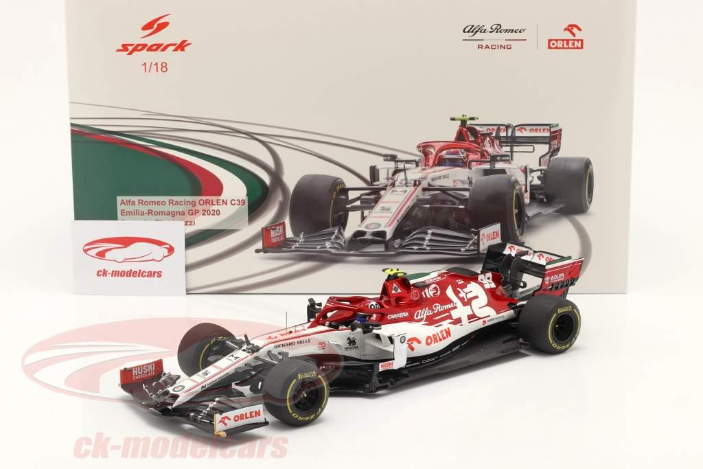 A. Giovinazzi Alfa Romeo Racing C39 #99 Emilia Romagna GP F1 2020 1:18 Spark