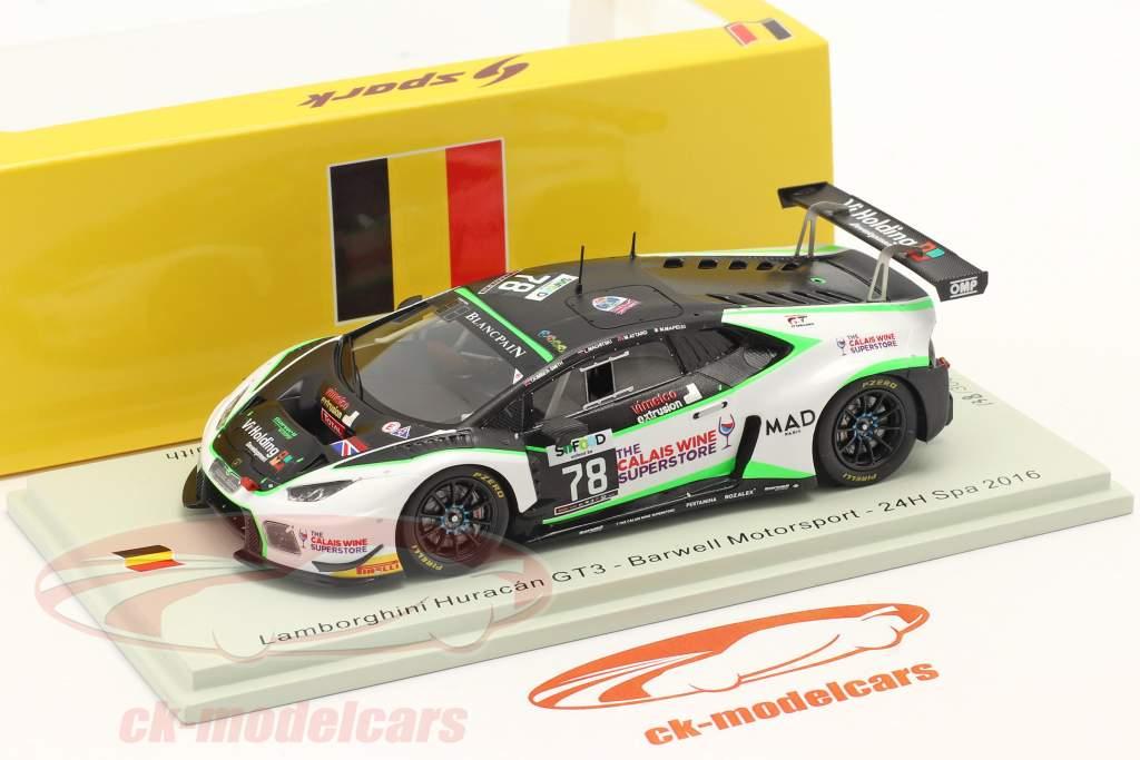 Lamborghini Huracan GT3 #78 24h Spa 2016 Barwell Motorsport 1:43 Spark