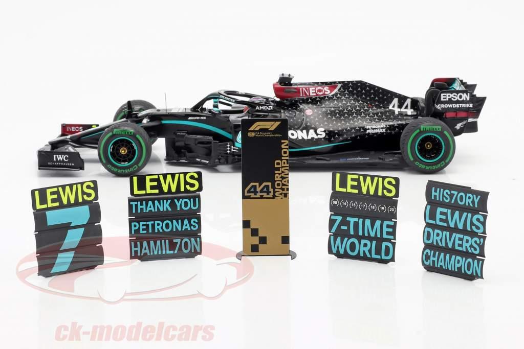 L. Hamilton Mercedes-AMG F1 W11 #44 Campeão mundial Peru GP F1 2020 1:18 Spark