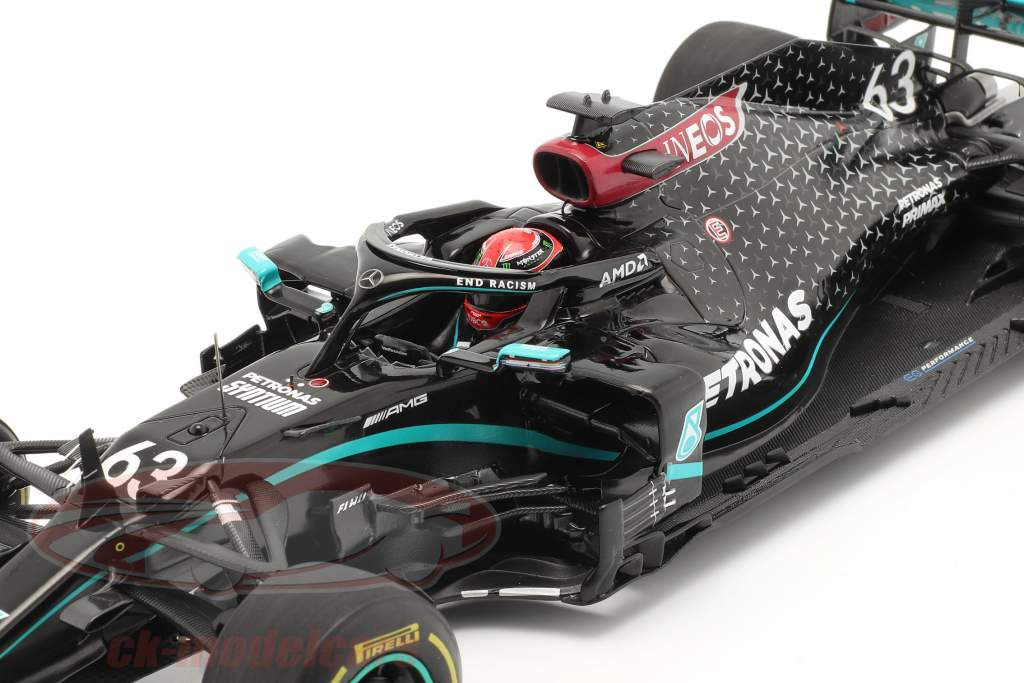 George Russell Mercedes-AMG F1 W11 #63 Sakhir GP Fórmula 1 2020 1:18 Spark