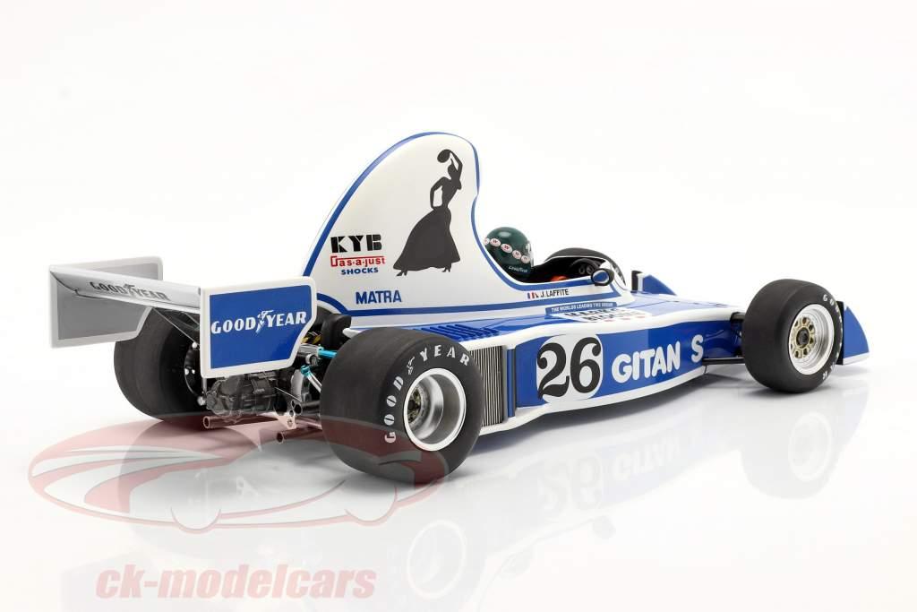 Jacques Laffite Ligier JS5 #26 Cuarto Long Beach GP fórmula 1 1976 1:18 Spark