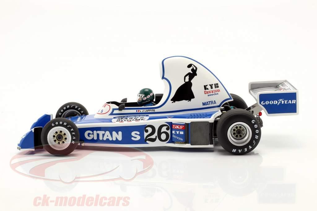 Jacques Laffite Ligier JS5 #26 4e Long Beach GP formule 1 1976 1:18 Spark