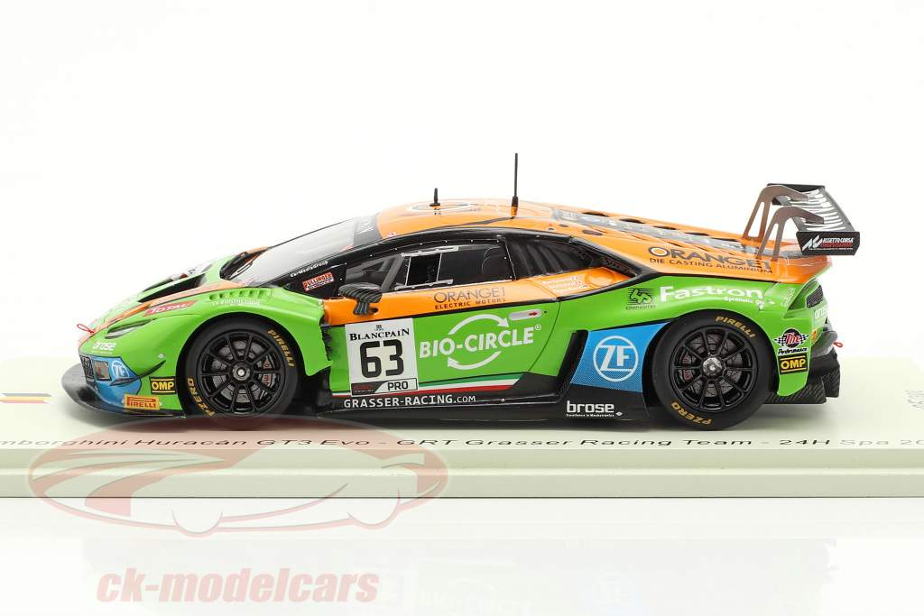 Lamborghini Huracan GT3 #63 24h Spa 2019 Grasser Racing Team 1:43 Spark