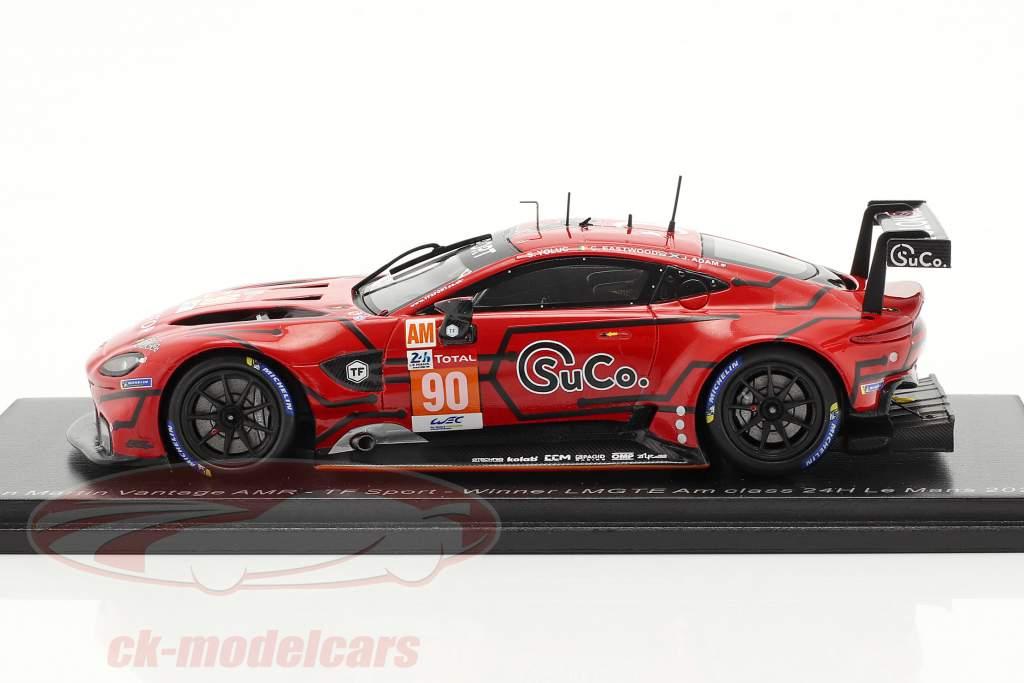Aston Martin Vantage AMR #90 vencedora LMGTE-Am 24h LeMans 2020 TF-Sport 1:43 Spark