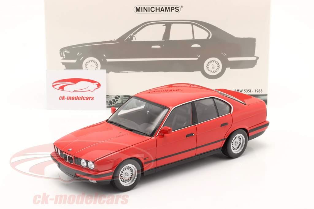 BMW 535i (E34) Anno di costruzione 1988 rosso 1:18 Minichamps