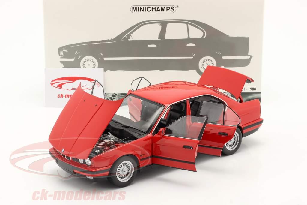 BMW 535i (E34) Année de construction 1988 rouge 1:18 Minichamps