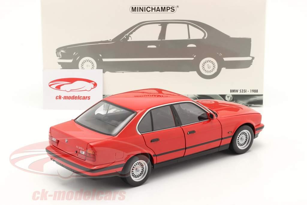 BMW 535i (E34) Byggeår 1988 rød 1:18 Minichamps