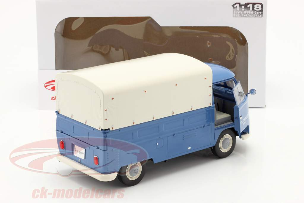 大众汽车 VW T1 Pick-Up 和 覆盖 Volkswagen Service 1950 蓝色的 1:18 Solido