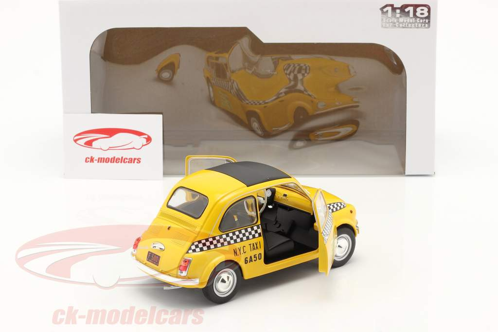 Fiat 500 L Taxi New York City 1965 geel 1:18 Solido