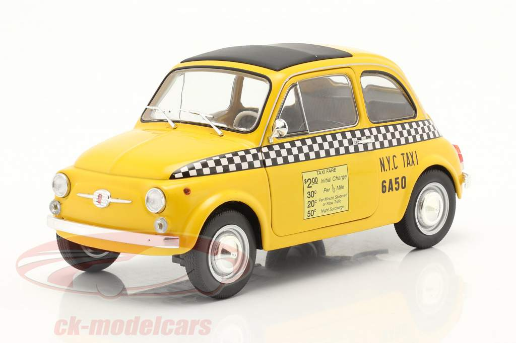 Fiat 500 L Taxi New York City 1965 yellow 1:18 Solido
