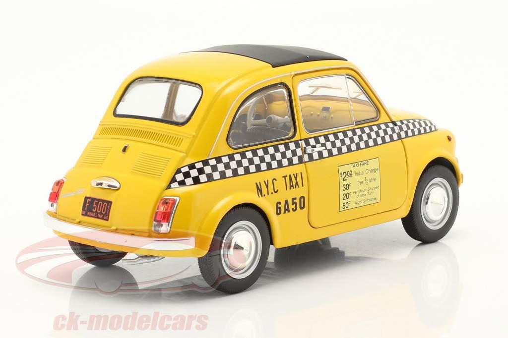 Fiat 500 L Taxi New York City 1965 amarelo 1:18 Solido