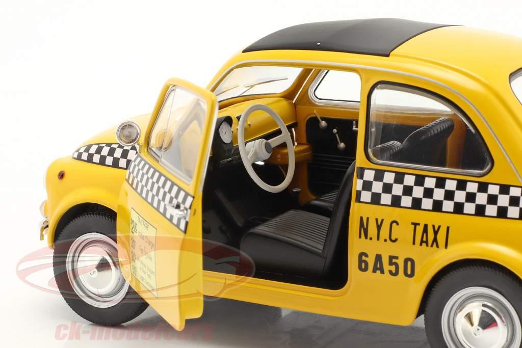 Fiat 500 L Taxi New York City 1965 黄 1:18 Solido