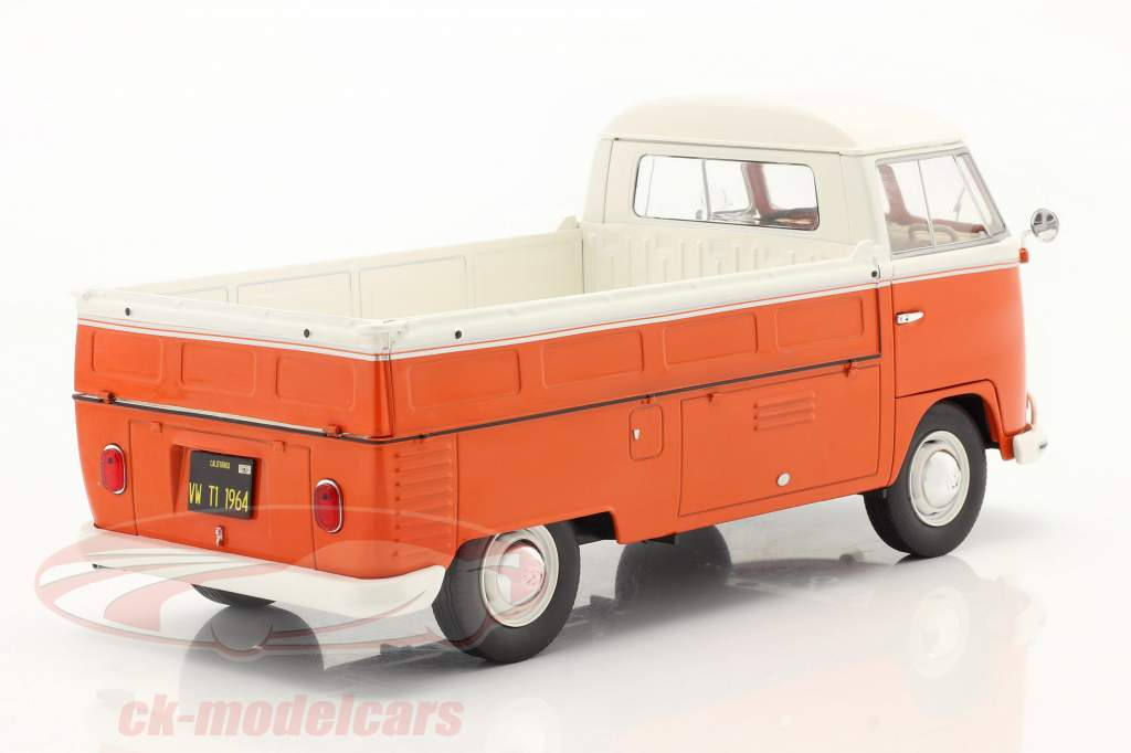 Volkswagen VW T1 Pick-Up 1950 橙子 / 白色的 1:18 Solido