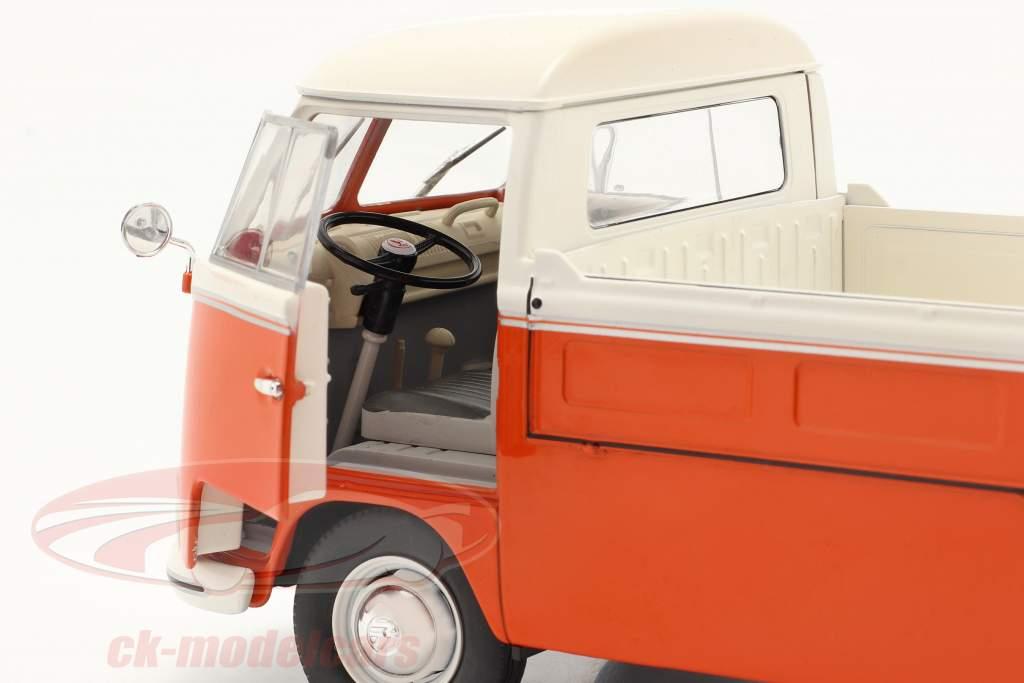 Volkswagen VW T1 Pick-Up 1950 Orange / blanc 1:18 Solido