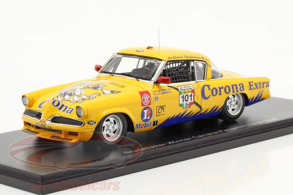 Studebaker Commander Corona #101 winnaar Carrera Panamericana 1999 1:43 Spark