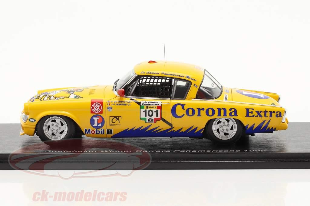Studebaker Commander Corona #101 vincitore Carrera Panamericana 1999 1:43 Spark