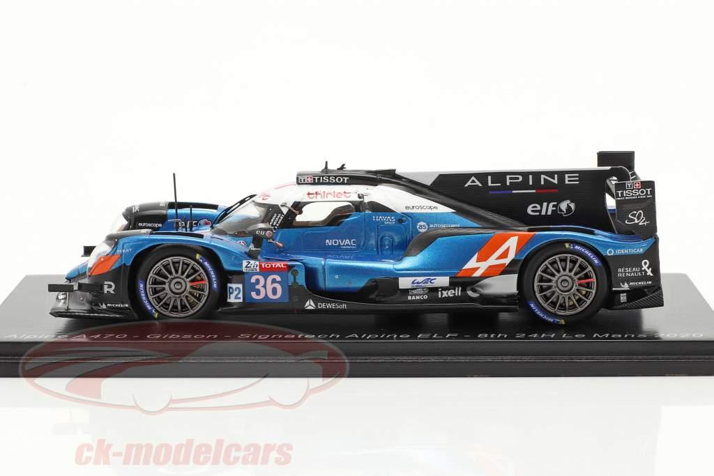 Alpine A470 #36 8e 24h LeMans 2020 Signatech Alpine Elf 1:43 Spark