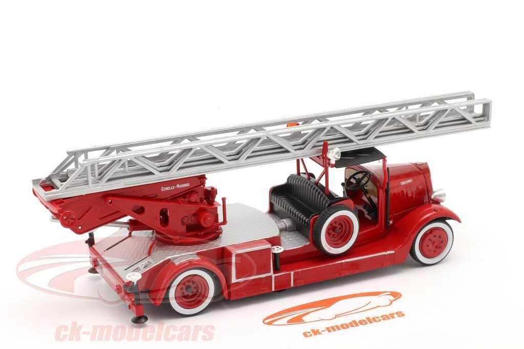 Delahaye Typ 103 Feuerwehr mit Drehleiter rot 1:43 Altaya