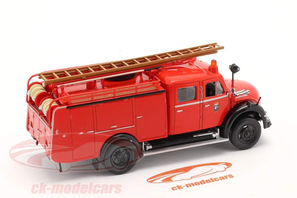 Magirus Deutz Mercur TLF 16 Brandweer Madrid rood 1:43 Altaya