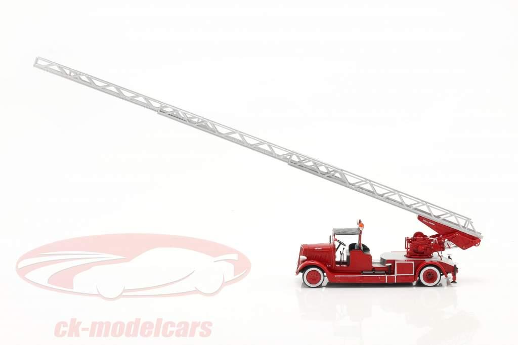 Delahaye Modelo 103 corpo de Bombeiros Com Escada giratória vermelho 1:43 Altaya