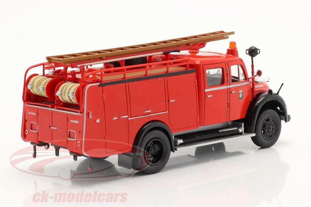 Magirus Deutz Mercur TLF 16 vigili del fuoco Madrid rosso 1:43 Altaya