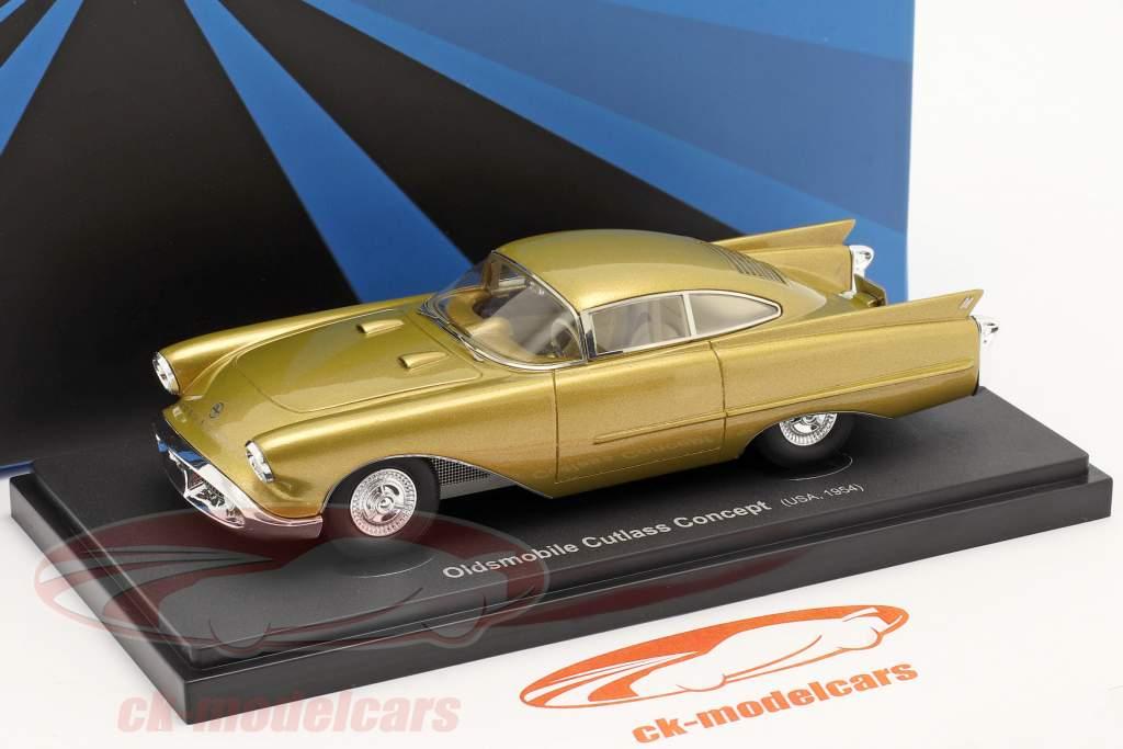 Oldsmobile Cutlass Concept Car bouwjaar 1954 goud metalen 1:43 AutoCult