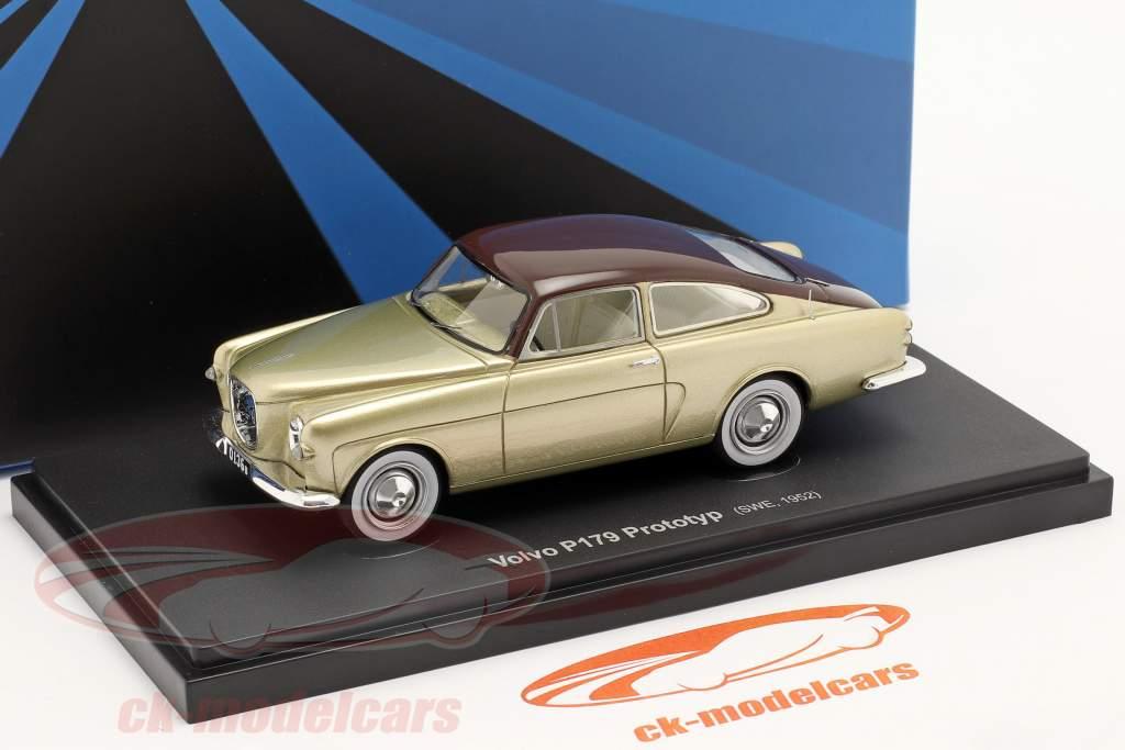 Volvo P179 prototype Byggeår 1952 guld / Brun 1:43 AutoCult