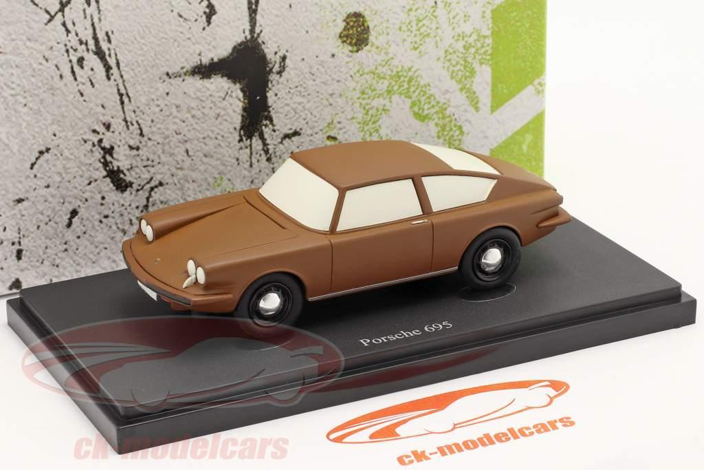 Porsche 695 Année de construction 1957 marron 1:43 AutoCult