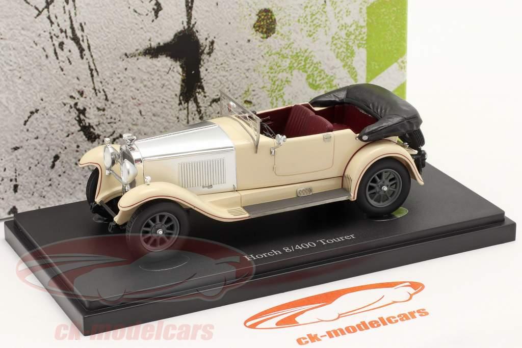 Horch 8/400 Tourer bouwjaar 1930 ivoor / zilver 1:43 AutoCult