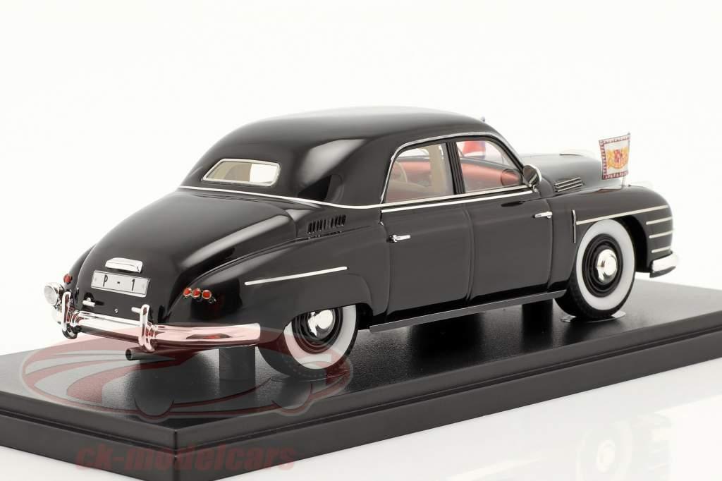 Skoda VOS Vehículos especiales gubernamentales Checoslovaquia 1948 negro 1:43 AutoCult