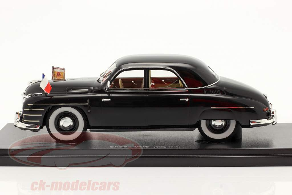 Skoda VOS Regierungsspezialwagen Tschechoslowakei 1948 schwarz 1:43 AutoCult