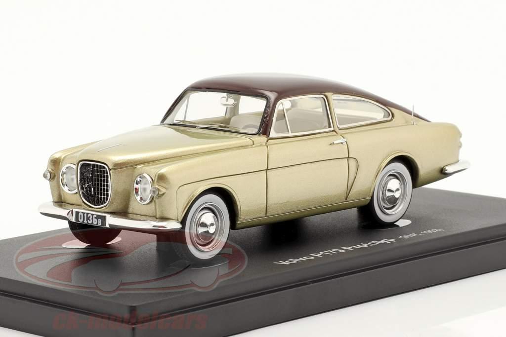 Volvo P179 prototipo Anno di costruzione 1952 oro / Marrone 1:43 AutoCult