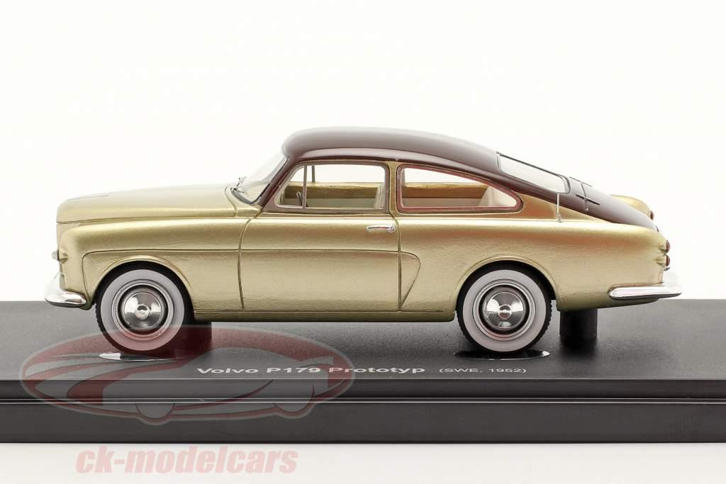 Volvo P179 prototype Année de construction 1952 or / marron 1:43 AutoCult