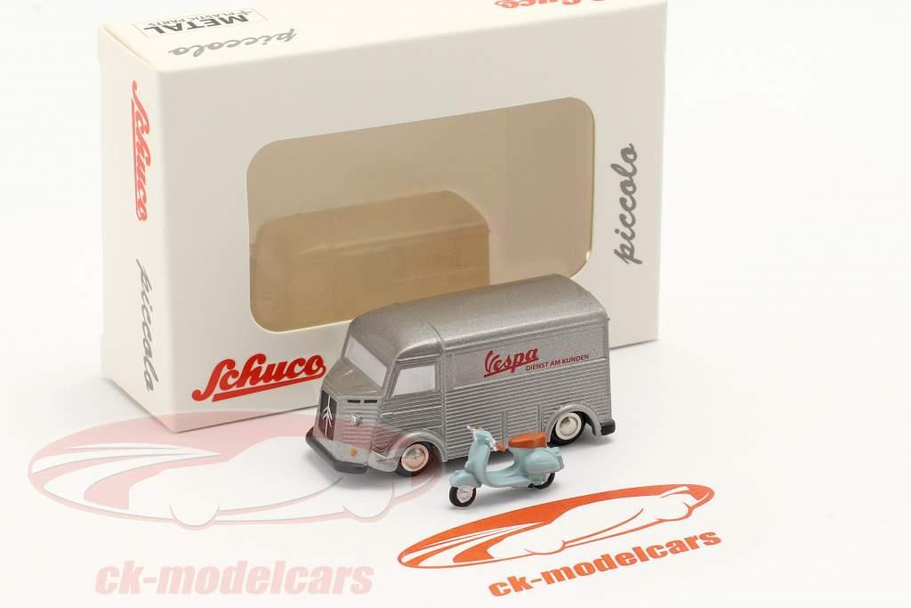Citroen HY Vespa Customer service silver 1:90 Schuco Piccolo