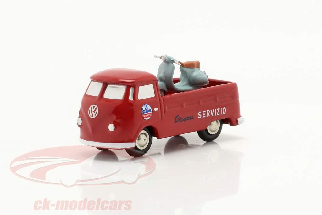 Volkswagen VW T1 Camioncino Vespa servizio rosso 1:90 Schuco Piccolo