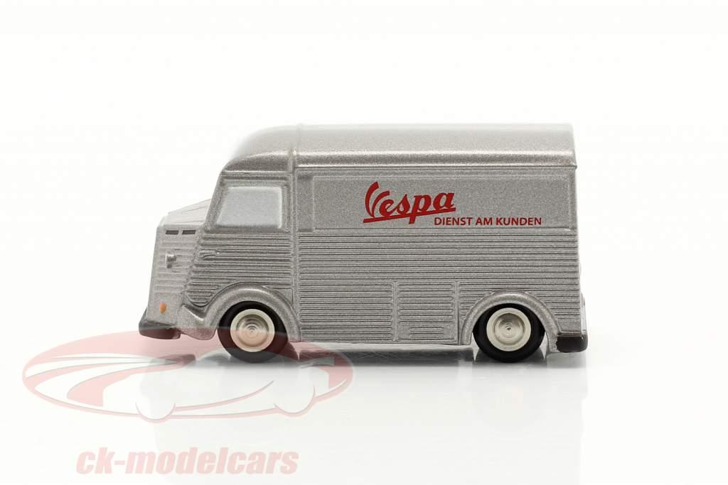 Citroen HY Vespa Service Clients argent 1:90 Schuco Piccolo