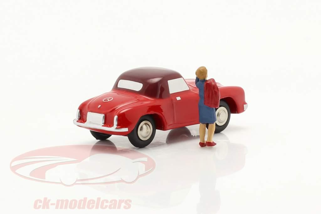 Mercedes-Benz 190 SL (W121 B II) Année de construction 1955-63 rouge 1:90 Schuco Piccolo