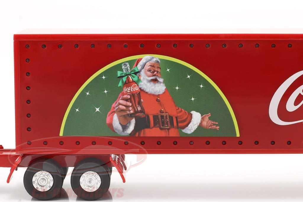 Vrachtwagen Kerstmis Coca-Cola met LED-verlichting rood 1:43 Motorcity