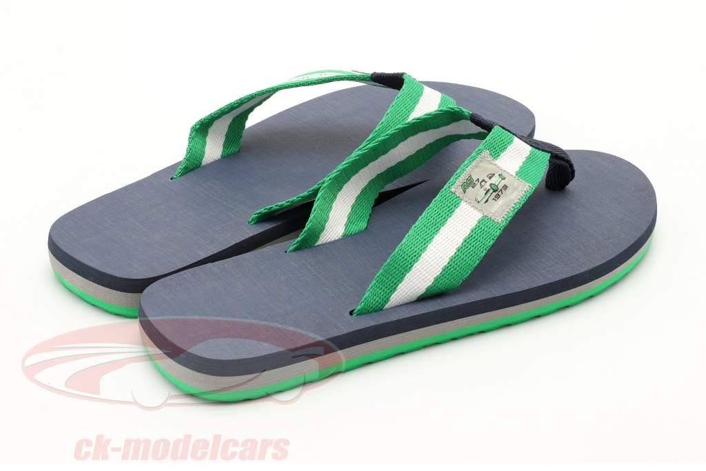 Flip Flops Porsche RS 2.7 Collection taglia 42-44 verde / bianca / blu scuro