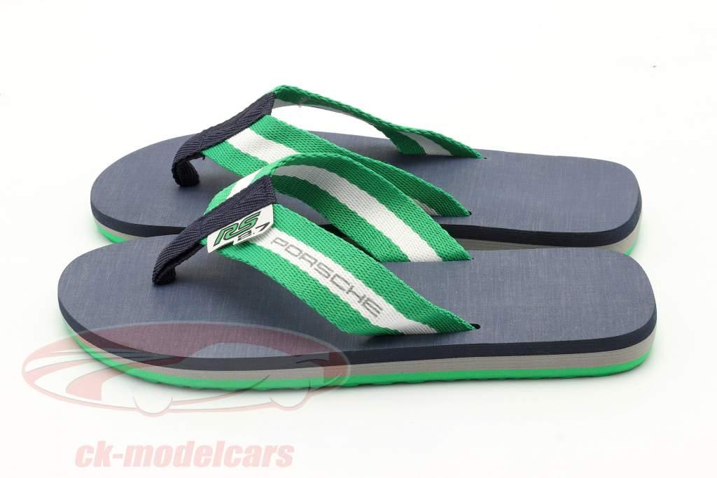 Flip Flops Porsche RS 2.7 Collection størrelse 39-41 grøn / hvid / mørkeblå