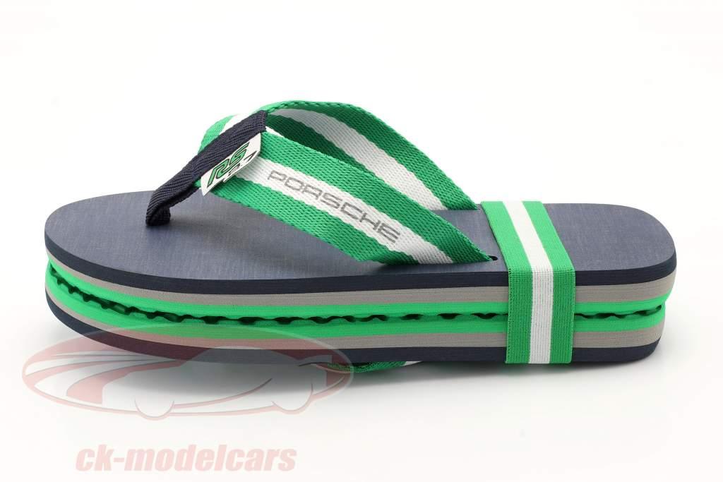 Flip Flops Porsche RS 2.7 Collection Tamanho 39-41 verde / Branco / azul escuro