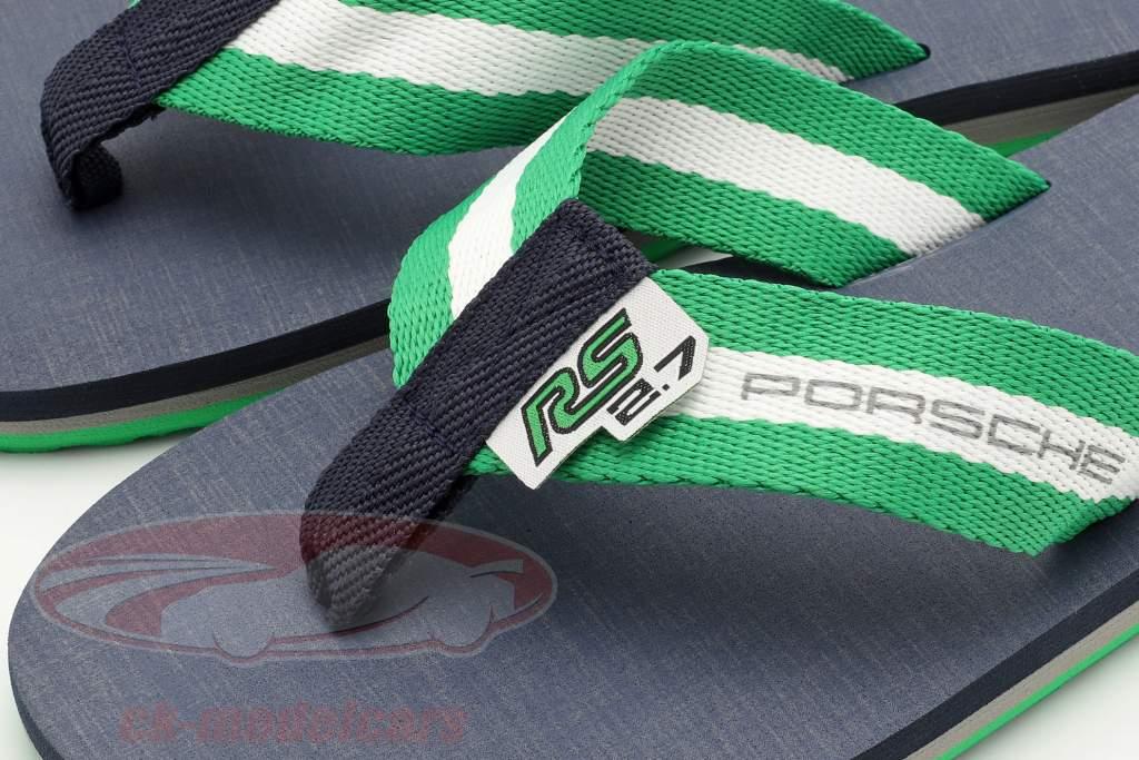 Flip Flops Porsche RS 2.7 Collection Tamanho 36-38 verde / Branco / azul escuro