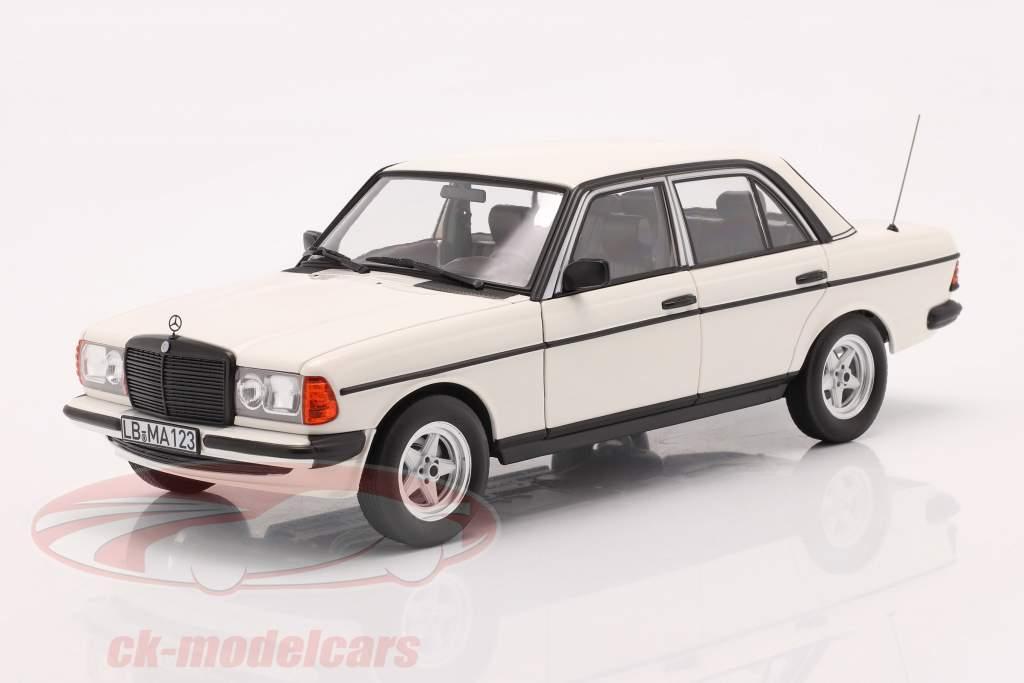 Mercedes-Benz 200 (W123) Anno di costruzione 1980 - 1985 bianco classico 1:18 Norev
