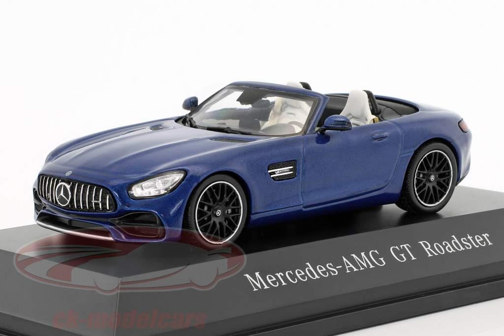 Mercedes-Benz AMG GT Roadster Bouwjaar 2017 briljant blauw metalen 1:43 Spark